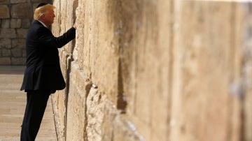 Donald Trump en el Muro de las Lamentaciones