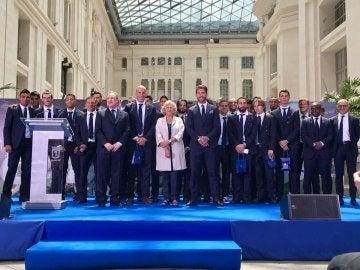 La visita del Madrid al Ayuntamiento