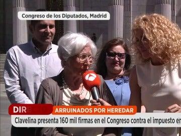 """Frame 30.007665 de: Clavelina García anima a los jóvenes a unirse a la lucha contra el impuesto de sucesión: """"Son los grandes perjudicados"""""""