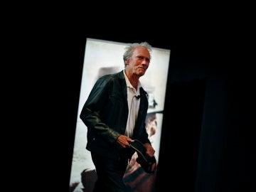 Clint Eastwood sobre el escenario del 70 Festival de Cannes