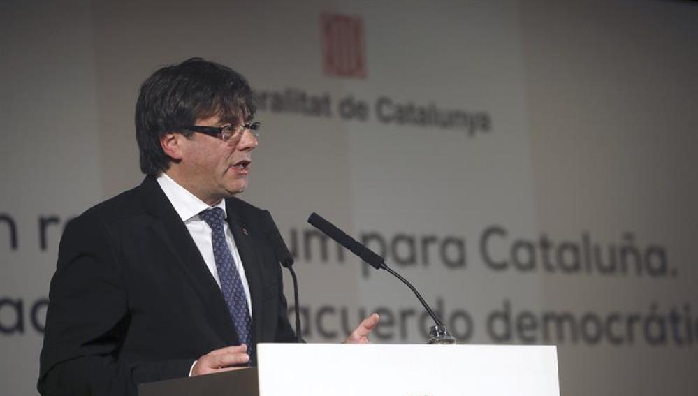 El presidente de Cataluña, Carles Puigdemont