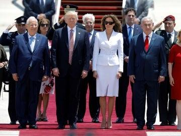 Donald Trump y Melania a su llegada a Israel