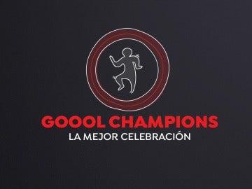 Celebra el gol de la Champions