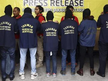 Detención en una fiesta de Yakarta