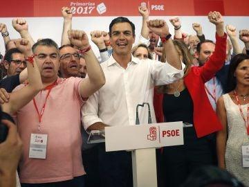 El vencedor de las primarias socialistas, Pedro Sánchez