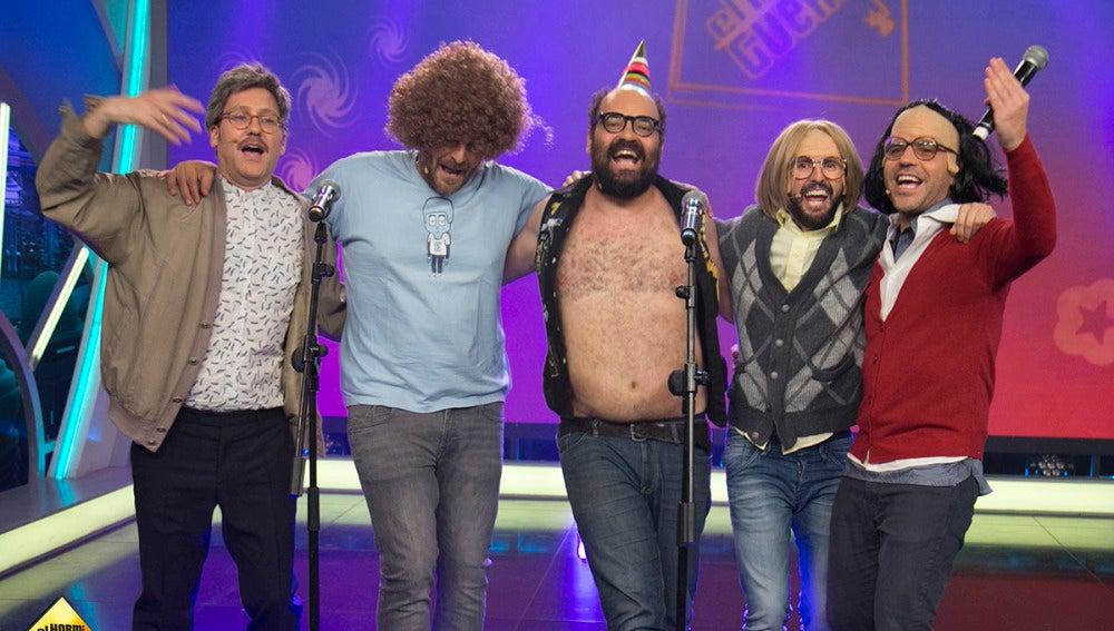 Ernesto Sevilla, Joaquín Reyes, Julián López y Raúl Cimas cantan su hit 'Hijo de puta, hay que decirlo más' en 'El Hormiguero 3.0'