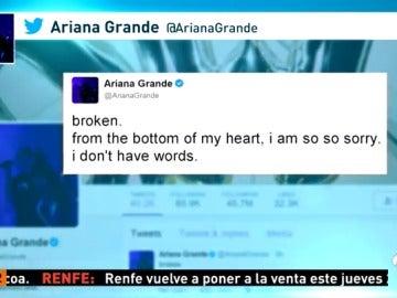 Frame 10.905 de: Ariana Grande confiesa no tener palabras tras la explosión en el Manchester Arena