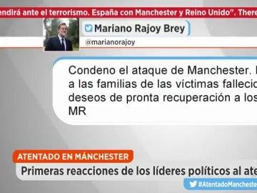 Los políticos españoles condenan el atentado de Mánchester