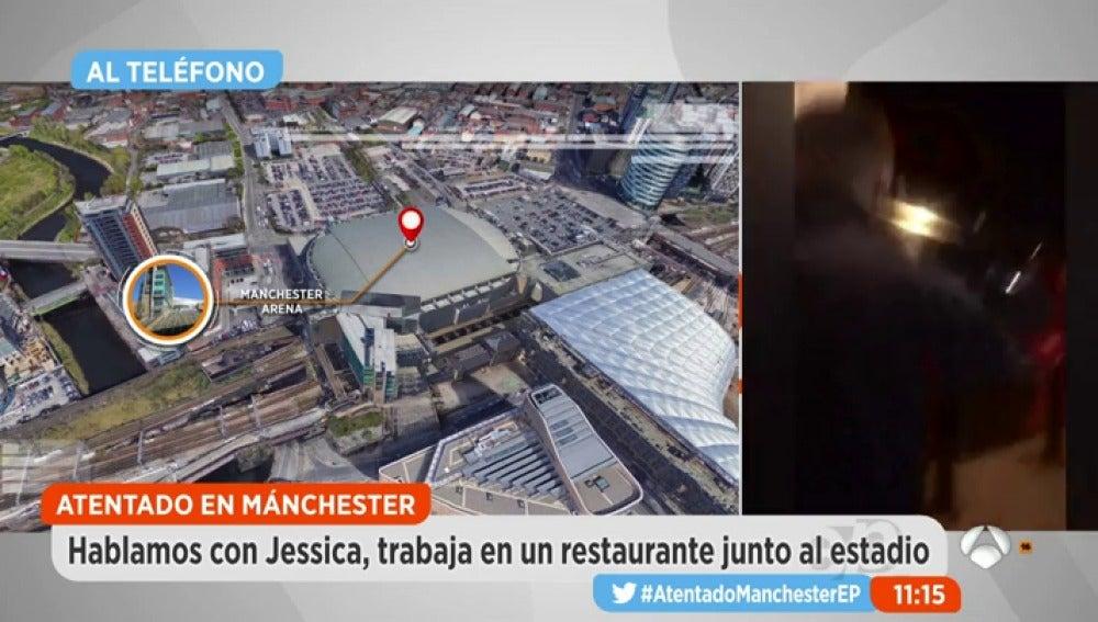 Jessica trabaja en un bar cercano al Manchester Arena