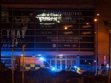 Exteriores del Manchester Arena tras la explosión