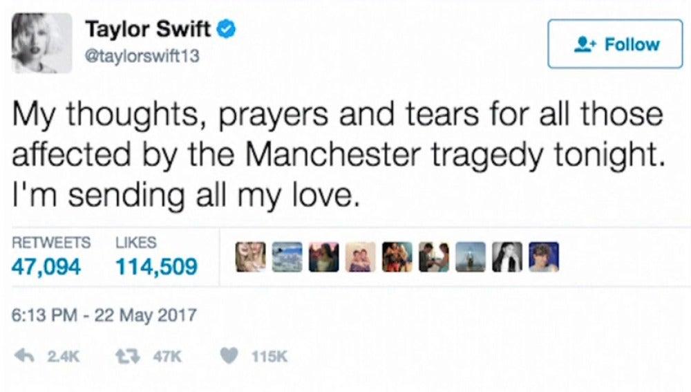 Frame 16.567981 de: Ariana Grande confiesa no tener palabras tras la explosión en el Manchester Arena