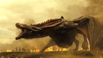 El dragón de Daenerys en 'Juego de Tronos'