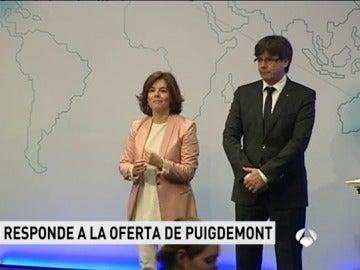 Sáenz de Santamaría y  Puigdemont