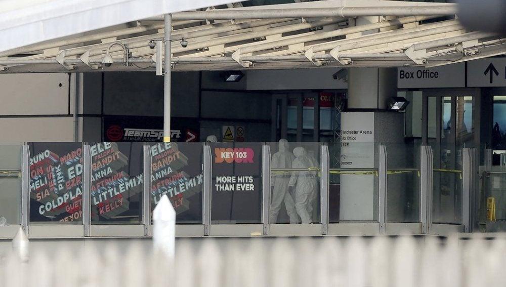 Lugar del ataque en Manchester