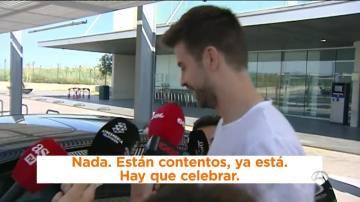 Gerard Piqué, a su llegada a Barcelona