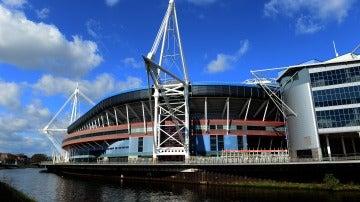 El Millenium Stadium de Cardiff, por fuera