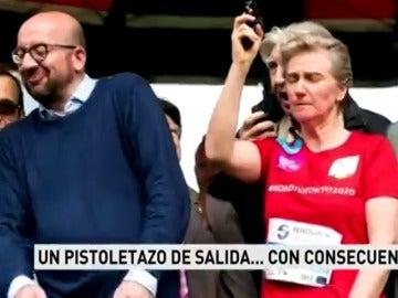 El primer ministro belga, Charles Michel, sufre sordera a causa del pistoletazo de salida que dio la princesa Astrid