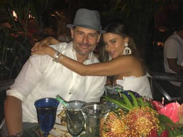 Joe Maganiello y Sofia Vergara en la fiesta