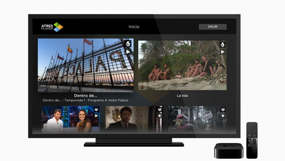 Atresplayer llega a Apple TV