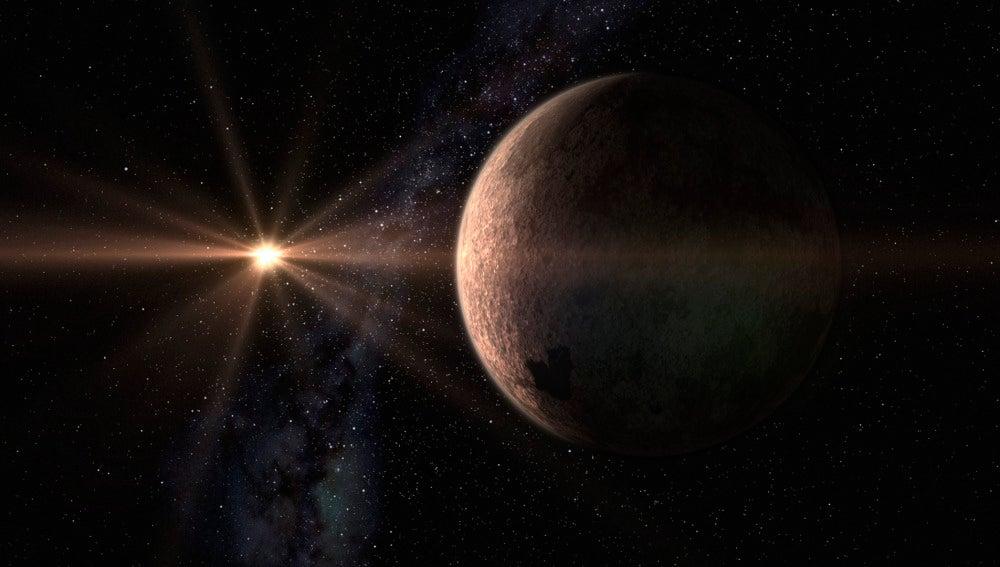 La súper-Tierra GJ 625 b y su estrella, GJ625 (Gliese 625)