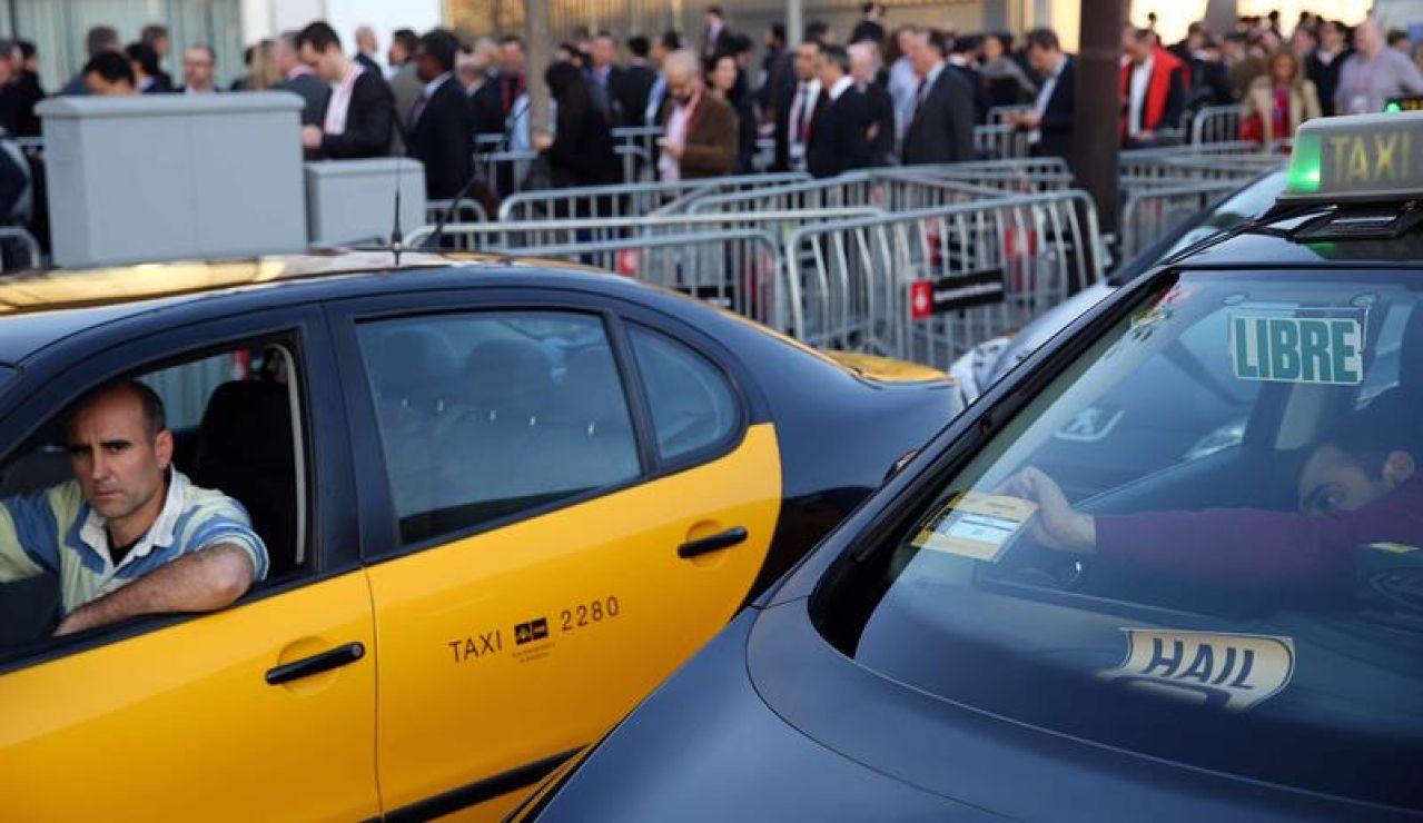 Un taxi en Barcelona