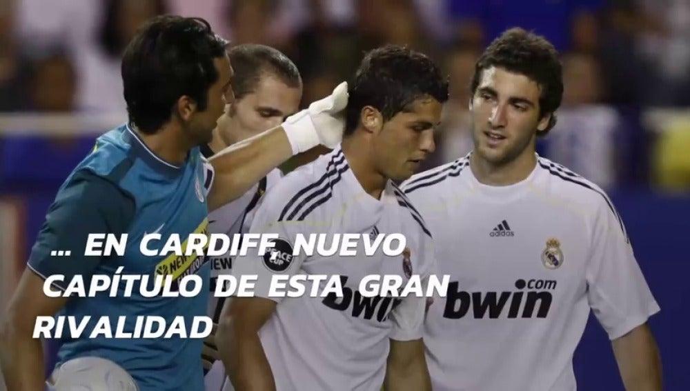 Frame 70.121904 de: Cristiano ha marcado siempre que ha jugado contra Buffon: cinco goles en cuatro partidos
