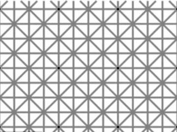 Juego visual en el que no se pueden ver los 12 puntos negros a la vez