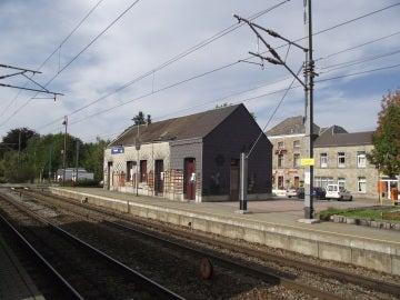 Estación de tren de Paliseul, al sur de Bélgica