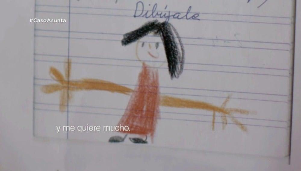 """Frame 69.219047 de: El poema que Asunta dedicó a su madre: """"Mi mamá es buena y me quiere mucho"""""""