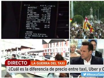 Frame 143.580418 de: Guerra abierta entre taxistas y Uber y Cabify
