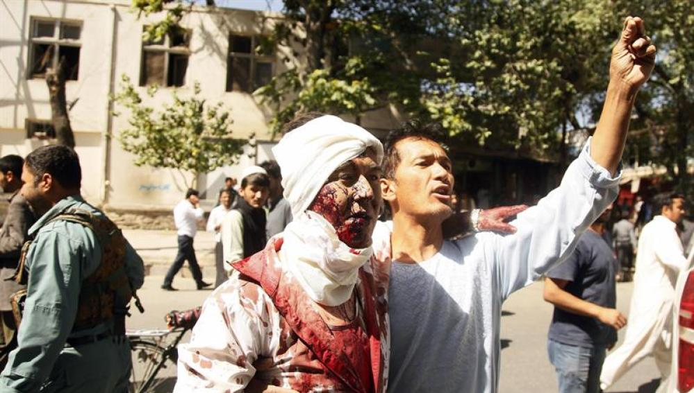Uno de los heridos en un atentado de Kabul