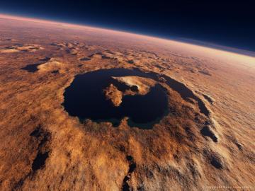 Antiguo lago estratificado en Marte