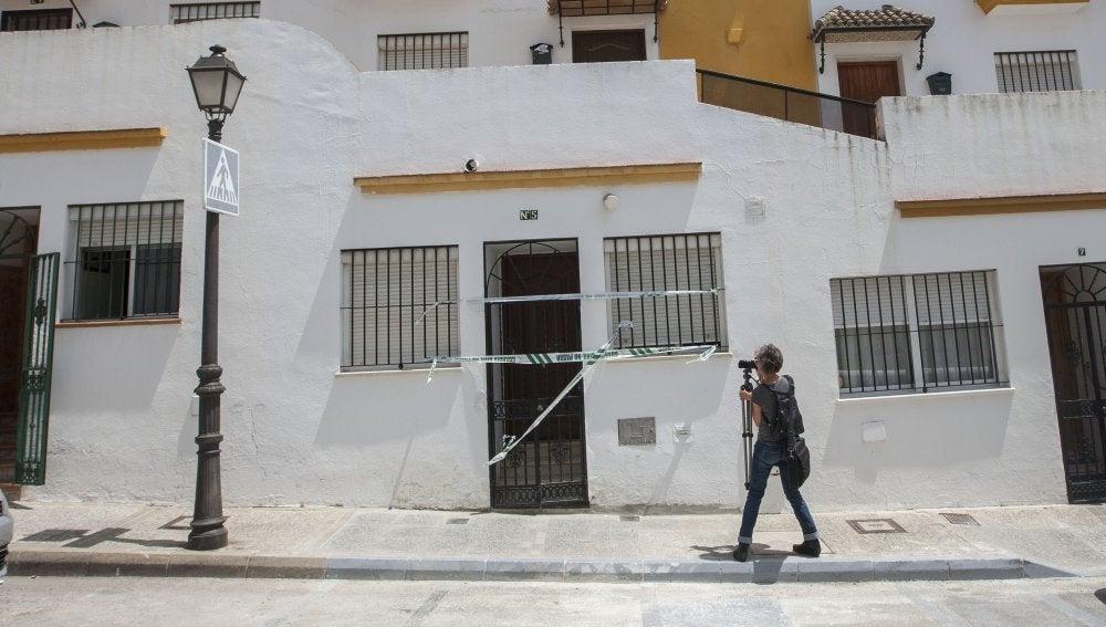 Fachada de la casa del barrio bajo de Arcos de la Frontera (Cádiz)