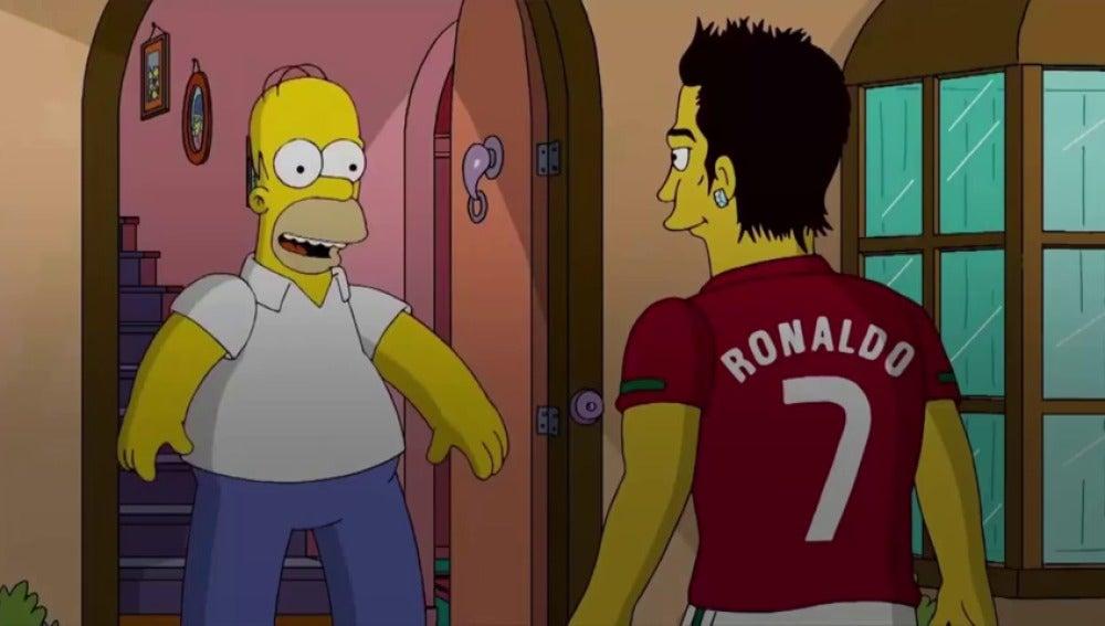 Frame 0.0 de: ¿Qué futbolistas han visitado Springfield?