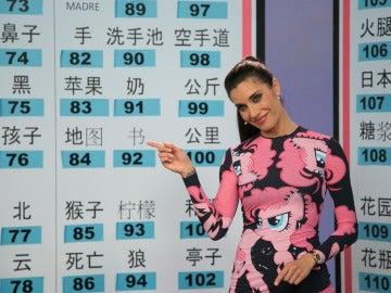 Pilar Rubio se sumerge a la perfección en el alfabeto chino