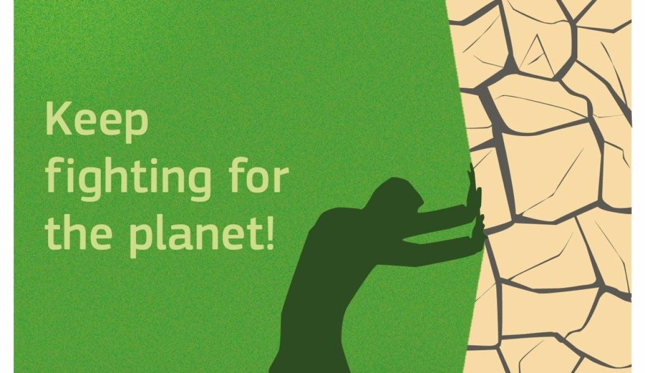 ¡Sigue luchando por el planeta!: grafismo de la Comisión Europea tras el anuncio de Trump