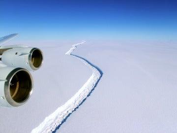 Grieta de hielo de la Plataforma Larsen C