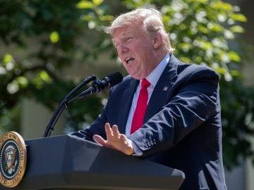 Donald Trump, en rueda de prensa en la Casa Blanca
