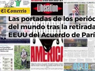 La prensa mundial se hace eco de la retirada de EEUU del Acuerdo de París