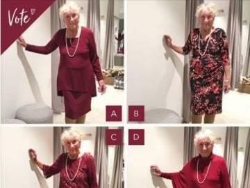 Los cuatro modelos de la anciana para su boda