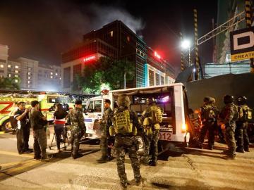Miembros de la policía en Manila
