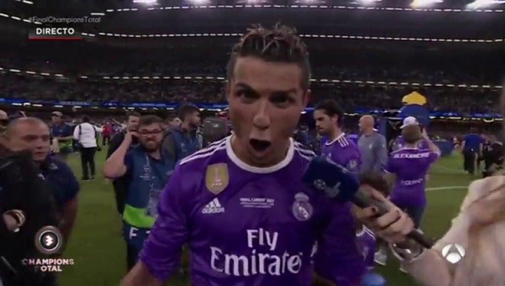 """Frame 77.668172 de: Cristiano Ronaldo, tras ganar la Duodécima: """"Es una temporada increíble, me preparé para esto"""""""