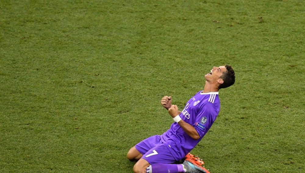 Cristiano Ronaldo celebra el triunfo ante la Juventus