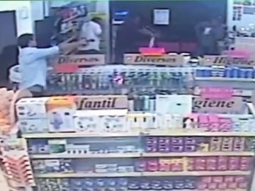 Intento de robo en una farmacia de Brasil