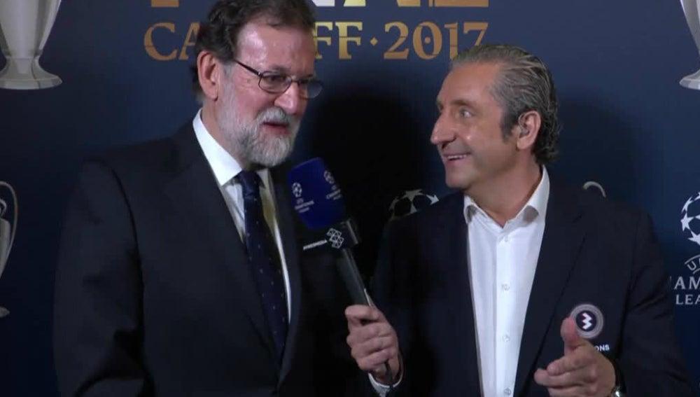 Josep Pedrerol, con Mariano Rajoy
