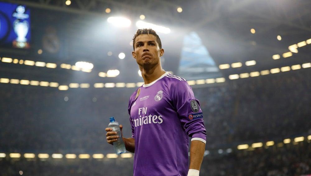 Cristiano Ronaldo durante la final de la Champions