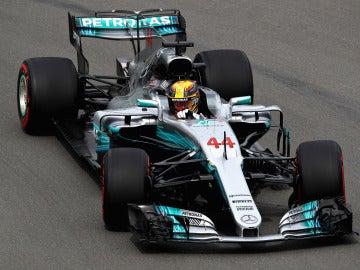 Lewis Hamilton rueda en el trazado de Canadá