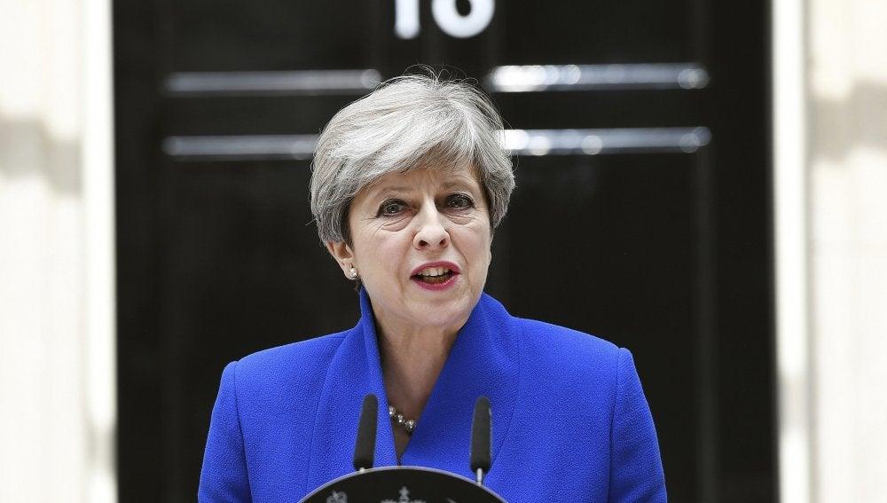 Theresa May, tras ganar las elecciones en Reino Unido
