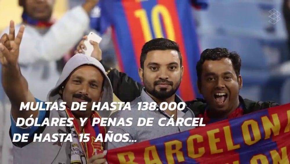 Frame 8.927716 de: ¿Por qué es delito vestir una camiseta del Barça en Emiratos Árabes?