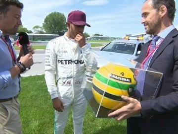Hamilton no se esperaba el regalo